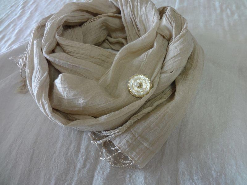 画像2: ビーズ刺繍ブローチ・4