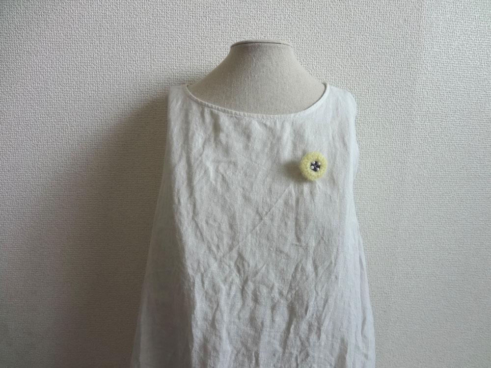 画像3: ニット丸花ブローチ
